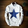 Space Cotton Sweatshirt Europe&America Style Pentagram Streetwear Style Hoody Printing Tide Hedging Loose Character Sweatshirt