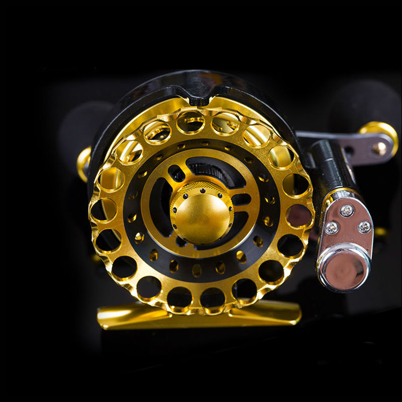 Ball Bearing Full Metal 7BB Fly Fish Reel Former Rafting Fish Reel Ice Fishing Wheel Left/Right Changeable Automatic Laying Line