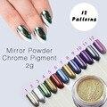 2g Nueva Llegada de Plata de Oro Cromo Espejo En Polvo para el Uso de Pigmentos de Efecto Espejo Espejo de Uñas En Polvo UV Gel uñas