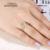 Ainuoshi 10 k sólido oro amarillo anillo de bodas mujeres taladro fila simulada Joyas de diamantes 1.25 ct 4 Garras Joyas de oro 10 k de la Señora anillo