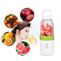 USB Fruit Juicer Bottle Rechargeable Mini Travel Juicer Safe Fruit Vegetable Blender Picnic Camping Milkshake Smoothie Maker 0