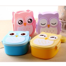 Bestselling Cartoon Owl Boxes Lunch Food Fruit Storage Container Bento Box Safe Food Picnic Lunchbox For Office Workers Students
