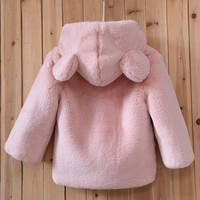 2017 New Fashion Winter Clothes rabbit fur coat boy & Girl warm baby hair Sweater Thickness Furry Coat