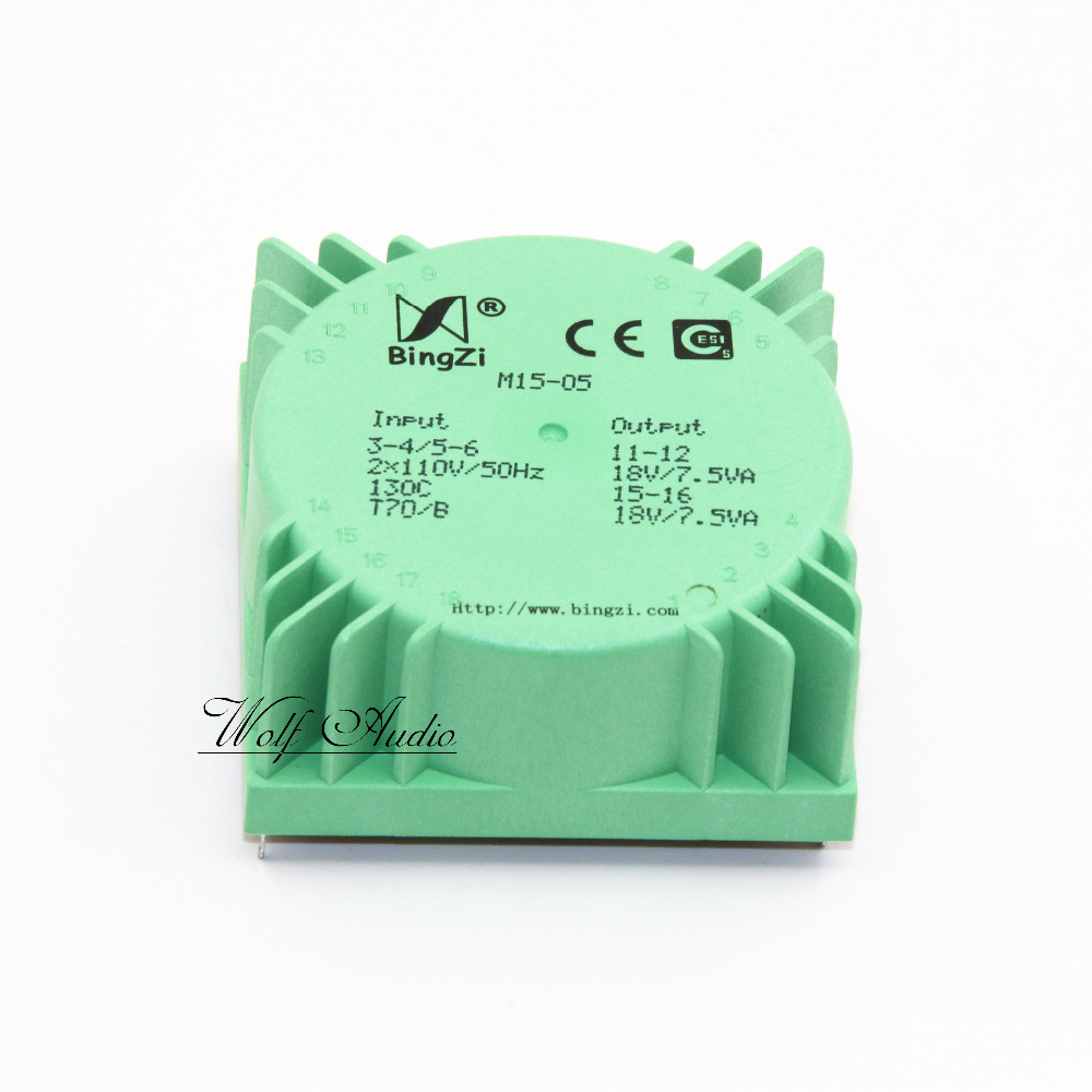 Dual 18v 15w New Original Bingzi M15 05 Square Board Pcb Solder 60v Variable Power Supply Circuit Using Lm317lm337 Sealing Ring Transformer 15va For Preamplifier In Amplifier From Consumer
