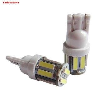 10 Lampada Pingo T10 7020 Led 5630 Pequena Forte Carro Moto