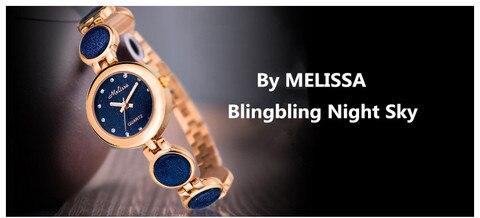 Relógio de Quartzo Nova Chegada Nobre Azul Feminino Pulseira Relógios Melissa Elegante Lady Party Statement Jóias Reloj Montre Femme F8233