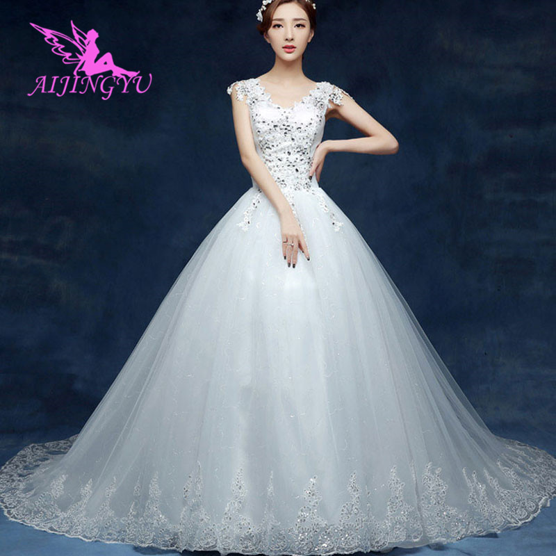 AIJINGYU 2018 marriage free shipping new hot selling cheap ball gown lace up back formal bride