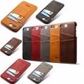 Para a apple iphone 7 7 s mais caso retro de luxo de qualidade rígido pc tampa traseira proteger casos de telefone de couro para iphone7