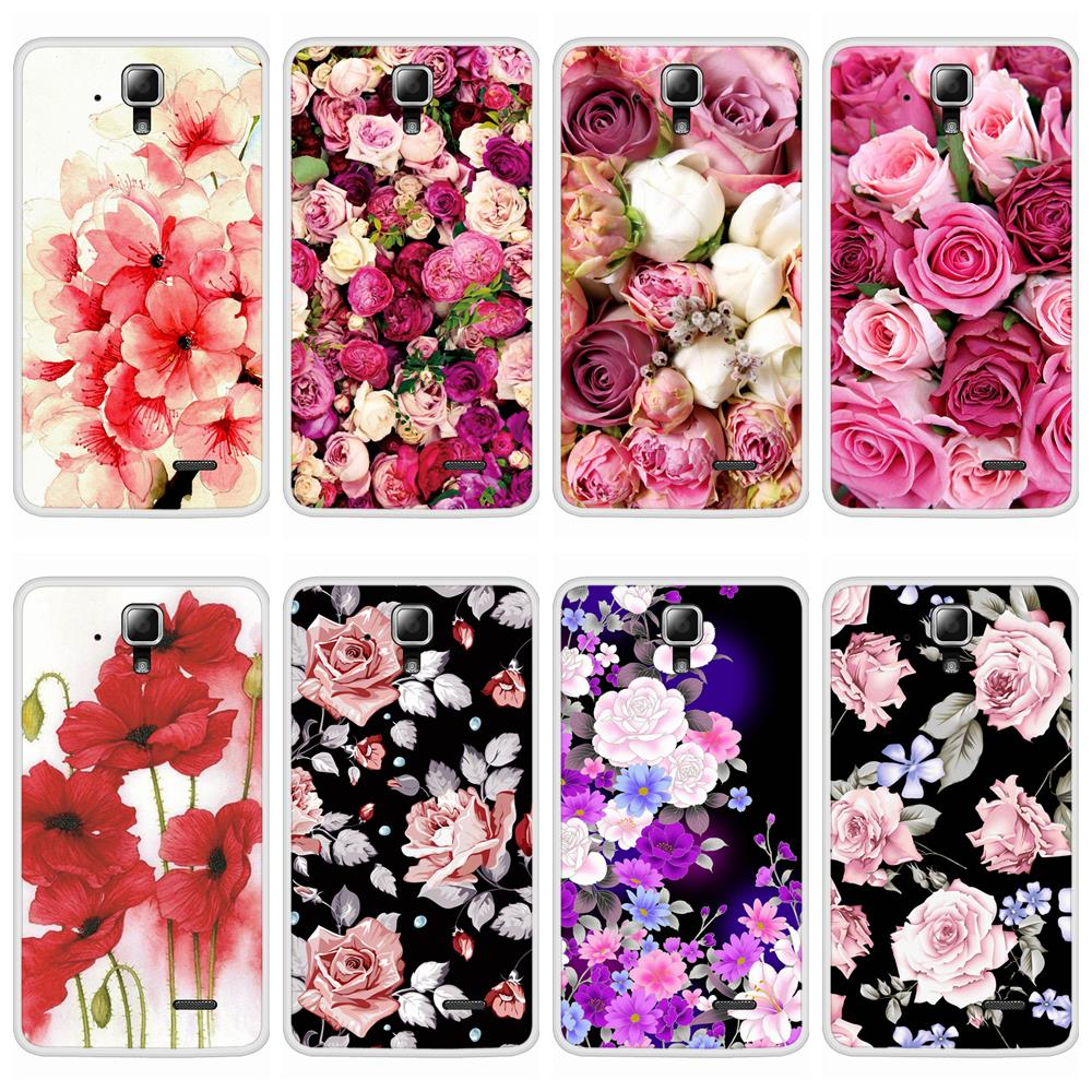 Case For Lenovo A536 Soft Silicone TPU Floral Flower Patterned Painting Cover For Lenovo A 536 Phone Cases