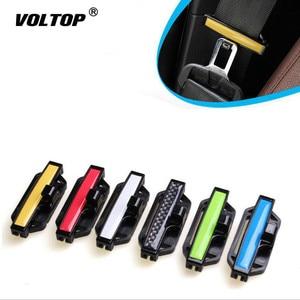 Image 1 - 2pcs Safety Belt Clip Seat Belt Pad Buckle Car Accessories Safety Stopper Belt Clip Tension Adjuster for Auto 53mm