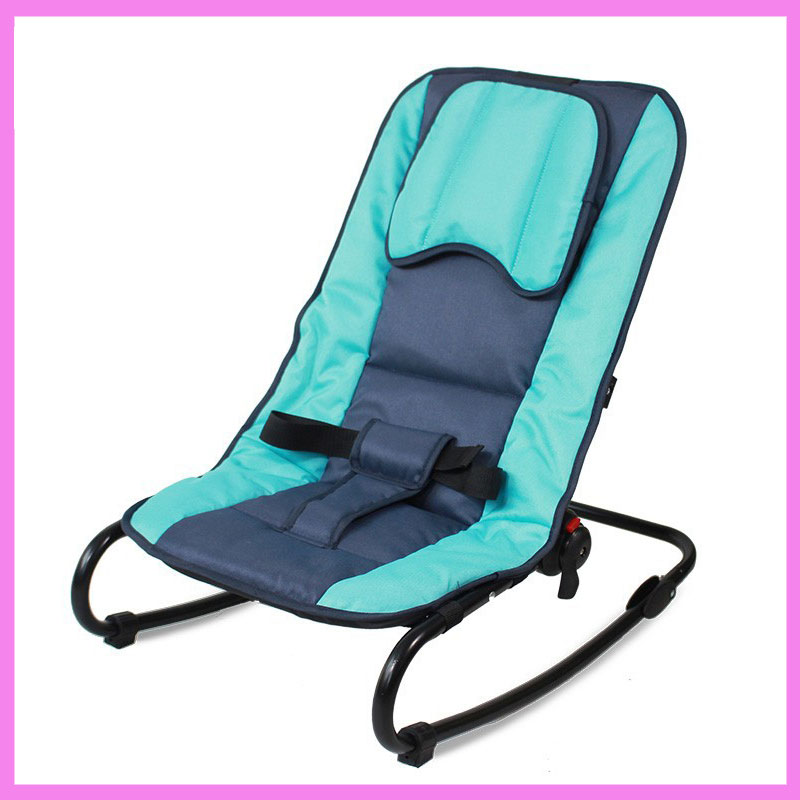 Adjustable Baby Bouncer Portable Folding Newborn Baby Rocking Chair  Swinging Lounge Recliner Balance Chair