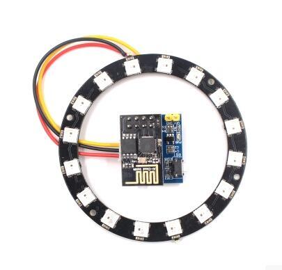 ESP8266 ESP-01 ESP-01S WS2812 RVB LED de contrôle Module WS2812 Anneau Lumineux Électronique Intelligent bricolage 10 pièces