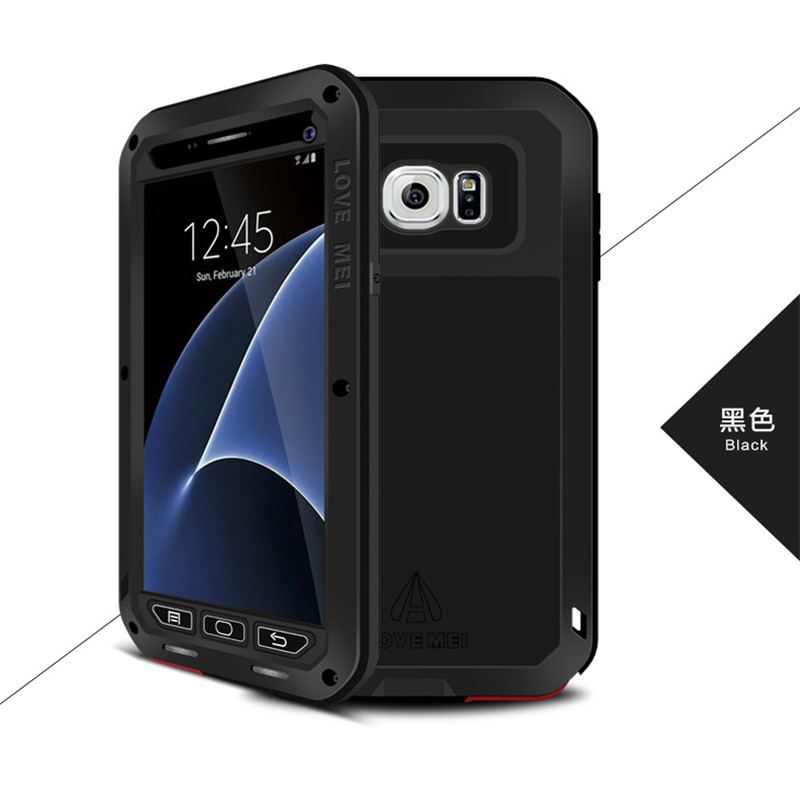 AMOUR MEI Marque Boîtier Métallique Pour Samsung Galaxy S7 Bord/S7 couvercle En Aluminium Armure Cas Antichoc Pour Samsung Galaxy S7 Capa Fundas