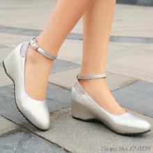 ปั๊มผู้หญิงรองเท้าหนังPUใหม่31 32 33 49 48 47 46 45 44 43ส้นสูง5.5เซนติเมตรส้นหนาขนาดEUR 30-50