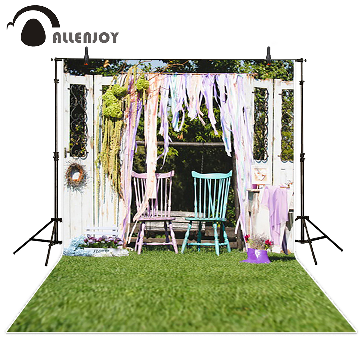 Allenjoy photo background Chairs vintage hollow white door fotografia newborn photography background backgrounds for kids