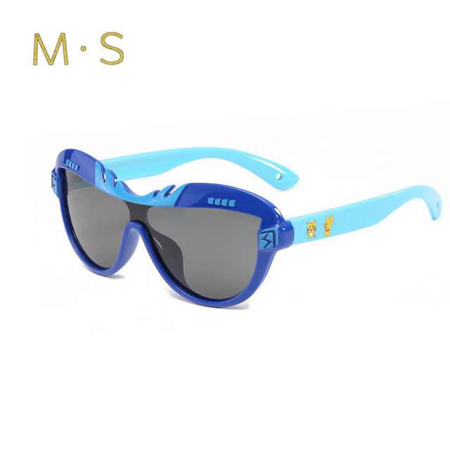 96d38bc85 MS Child Sunglasses 2018 New 100%Polarized Brand Childrens Sun Glasses Baby  UV400 Protection Oculos Boy Girl Lovely N Kids