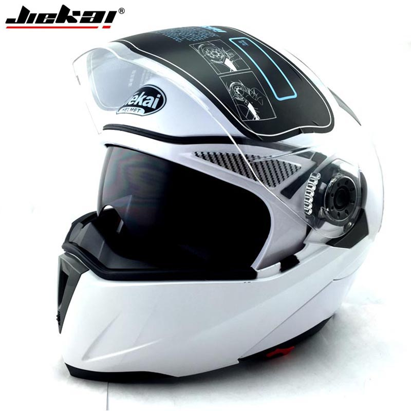 JIEKAI 105 Motorcycle helmet Flip up Electric motorbike protective headgear Racing Double lens Full face Motorcycle helmets 2017 new knight protection gxt flip up motorcycle helmet g902 undrape face motorbike helmets made of abs and anti fogging lens
