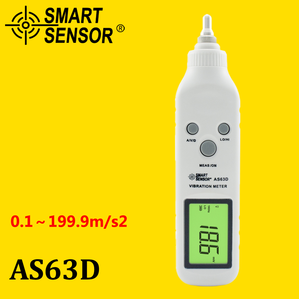 Pocket Vibrometer, Pen Vibration Meter Tester Gauge Analyzer Measure Precision Sensitivity Accelerometers Smart Sensor AS63D