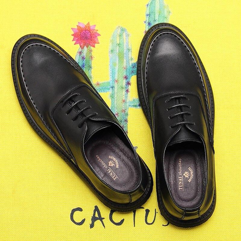 Zapatos negros de verano versión coreana de la tendencia de los zapatos de negocios casuales de los hombres zapatos pequeños de la sociedad Retro británica los hombres de verano - 2
