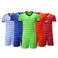Adsmoney Football Jerseys men uniform Set Short sleeve Top Mens Clothing Shirt kits suits maillot de foot adult soccer uniforms