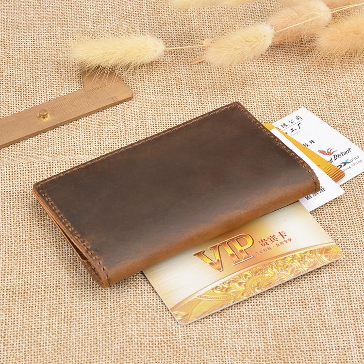 Creditcard Portemonnee Leer.Mode Bifold Lederen Mannen Creditcard Portemonnee Rijbewijs Houder