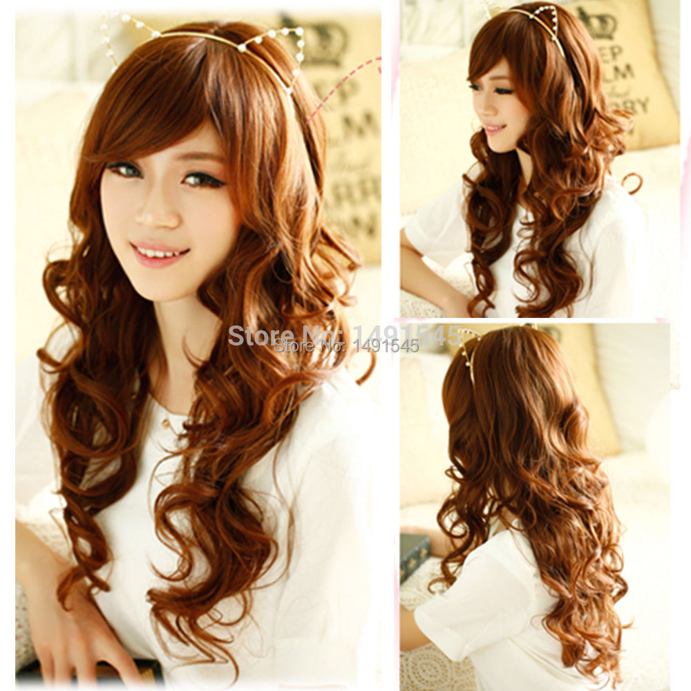 beautiful hair cutting style s beautiful hair style curly wavy wig 8695