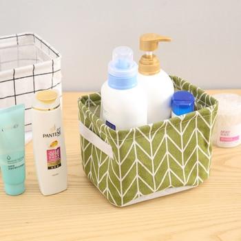 DIY Desktop Storage Basket Sundries Underwear Toy Box Cosmetic Book Organizer Stationery Container Laundry 1