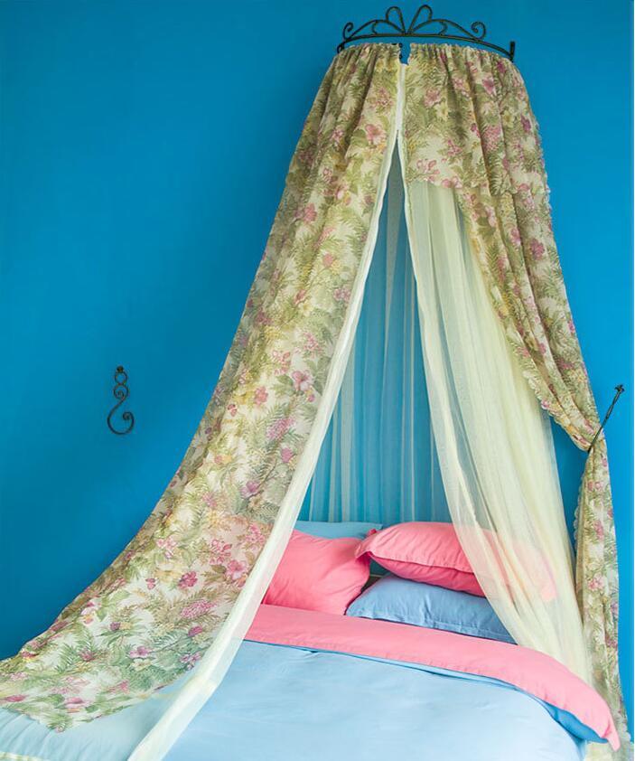 Luxus palast prinzessin stil moskitonetz blumendruck bett mantel ...