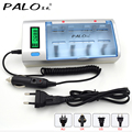 C906W Multi Usage 4 Slots LCD Display Battery Charger For Nimh Nicd AA/AAA/C/D/9V Rechargeable Battery