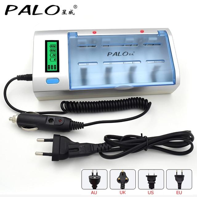 C906W Nhiều Cách Sử Dụng 4 Khe Cắm MÀN HÌNH LCD Hiển Thị Pin Sạc NiMH NiCd AA/AAA/SC/C/ d/Pin Sạc 9 V