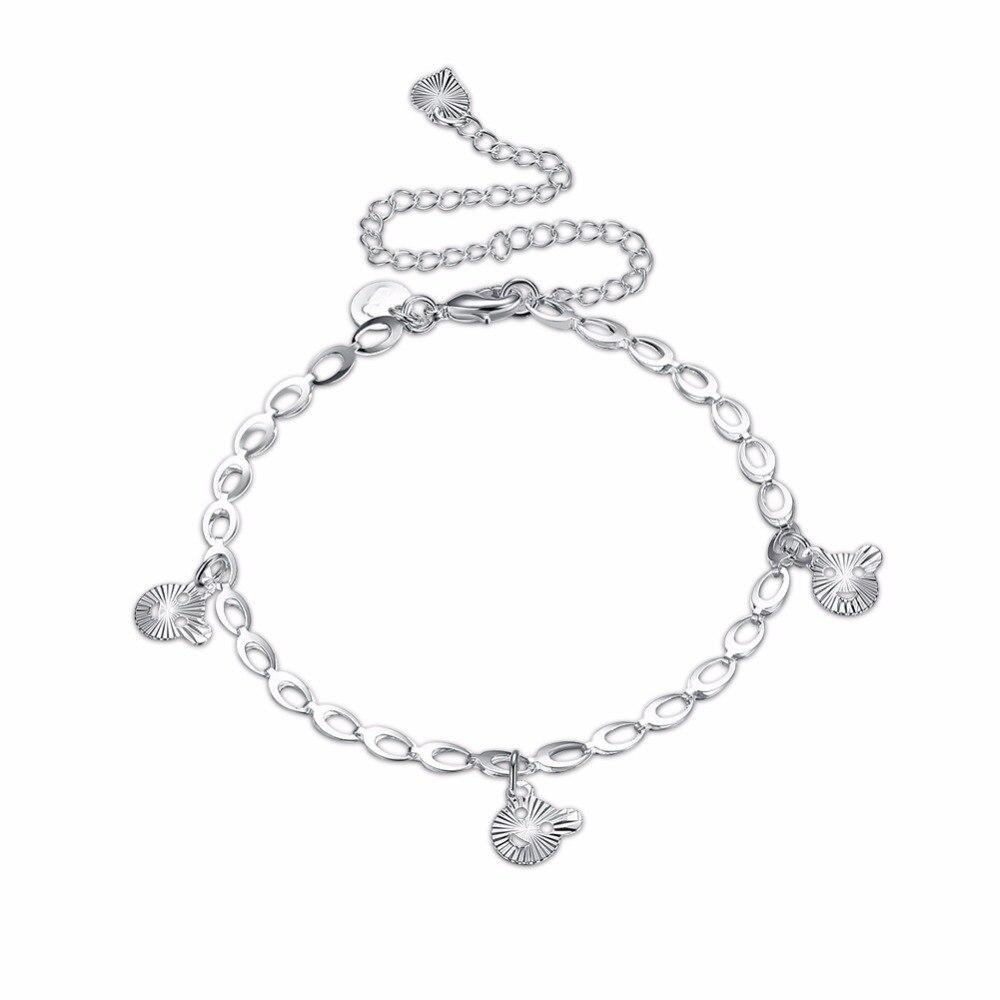 Кошка головы Ножные браслеты ноги носить романтическое очарование 925 Оригинальный серебряный творческая жизнь Безопасная Цепи для девочек...
