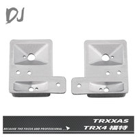 DJ 2PCS Metal Headlight Cup Front Light Cover for 1/10 RC Crawler Traxxas TRX 4 bronco Ford NEW