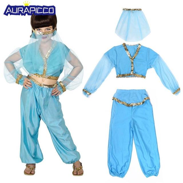 b9d90d416 Child Arabian Princess Costume Girls Jasmine Aladdin Genie ...