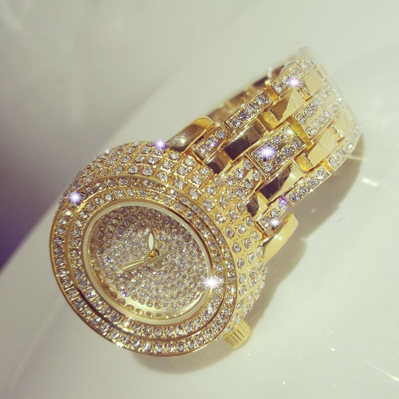 SEYRNOW Best Watches For Women Full Of Diamonds Sexy Gold Quartz Watch Party Clock Women Prom Ladies Watches Montre Femme