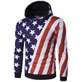 2017 spring New Flag of The US Sweatshirt Men Hoodies Fashion Solid Hoody Men Suit Pullover Men's Tracksuits male coats