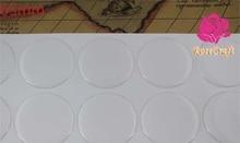 50 шт./лот 65 мм круглые прозрачные эпоксидные наклейки для DIY ювелирных изделий