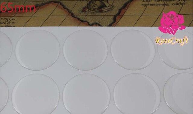 Adesivi epossidici trasparenti rotondi da 65mm per accessori per gioielli fai da te