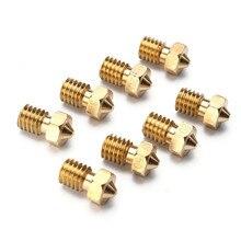 8pcs/lot 3D J-head Nozzle For 1.75 filament V6 Hotend Extruder Reprap Printer Nozzle Holes 0.2mm, 0.3mm, 0.4mm, 0.5mm