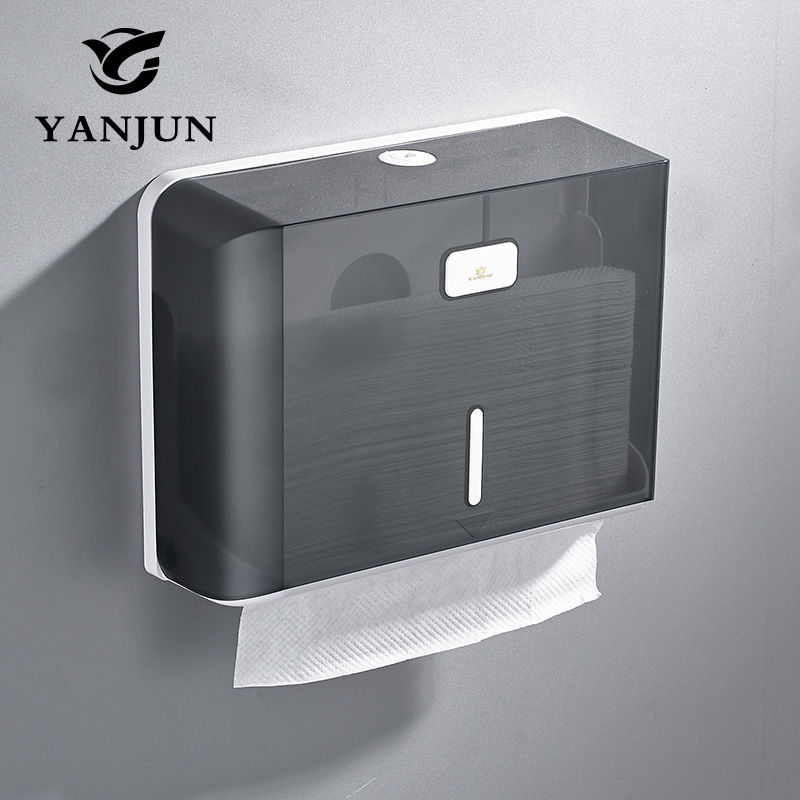 Yanjun wall mounted paper towel dispenser wc paper towel holder tissue dispenser bathroom for Home bathroom paper towel dispenser