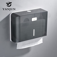 Yanjun Wall Mounted Paper Towel Dispenser WC Paper Towel Holder Tissue Dispenser Bathroom Accessories YJ 8620
