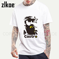 Mens camiseta Cuba Kuba Avana Revolução Fidel Castro T-Shirts de Manga Comprida 2017 nova chegada Casual Homens Tee