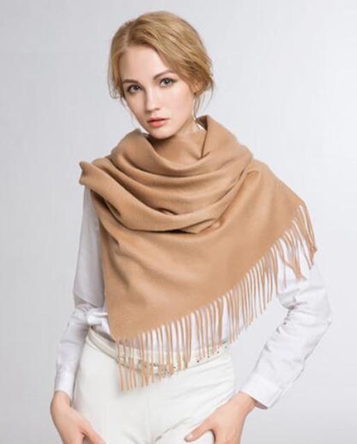 375c46184d882b 100% kaschmir Schal Frauen Camel Grau Lila Pashmina Dick Winter Feste  Natürliche Stoff Extra Soft