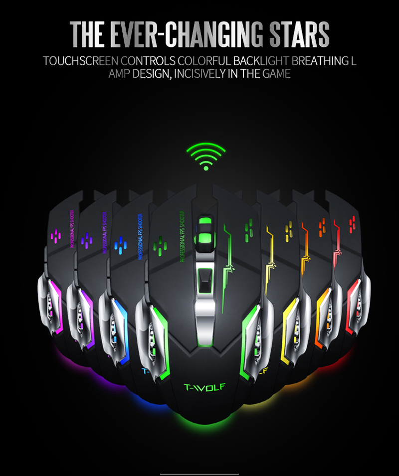 T-WOLF Q13 Rechargeable Wireless Mouse  (12)