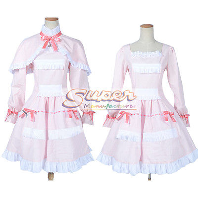 DJ DESIGN Another Mei Misaki LO Pink Dress Cloak Uniform COS Clothing Cosplay Costume