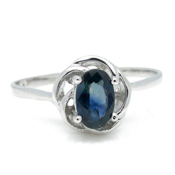 2017 Qi Xuan_Dark Blue Stone Luxury Rings_Fashion Ring_S925 Solid Sliver Dark Blue Stone Rings_Manufacturer Directly Sales