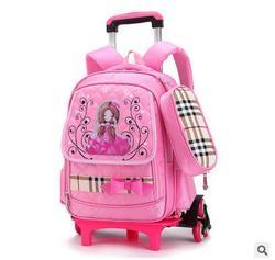 Plecak na kółkach dla dziewczęta wózek plecaki szkolne dla dzieci szkoły plecak na kółkach dla dzieci torba na bagaż torby szkolne na koła