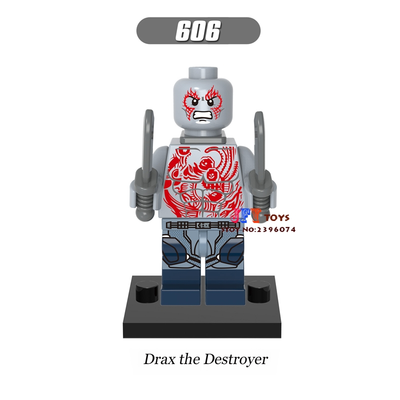 Single star wars building blocks Guardians of the Galaxy Drax the Destroyer model bricks toys hobbies for children brinquedos
