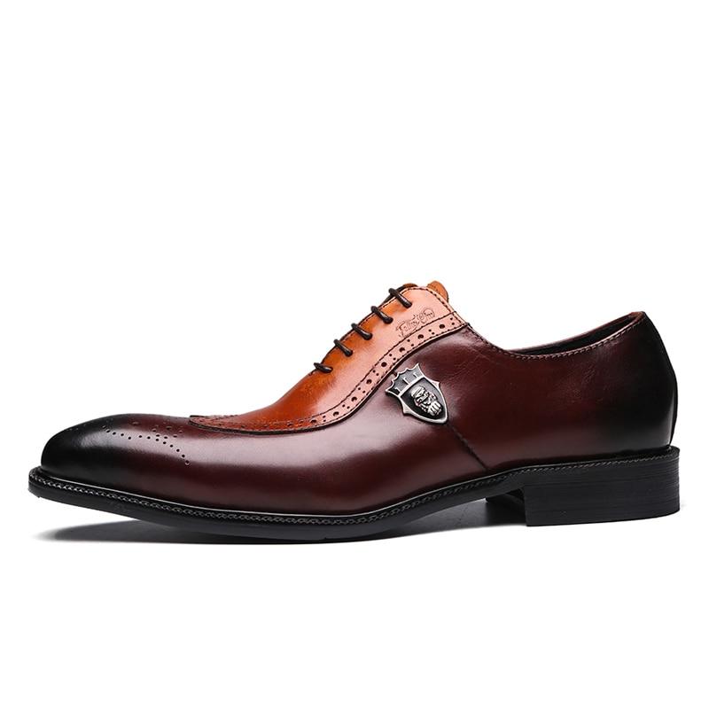 701cbc4739ded Clásico de lujo hombre brogue Oxford vestido de zapatos de cuero ...