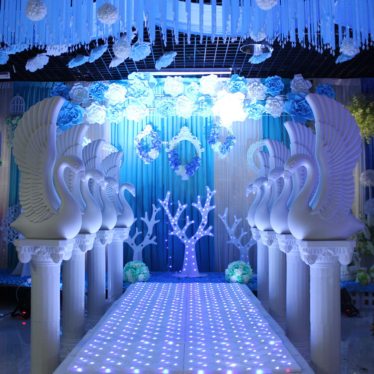 New Arrival White Angel Swan Plastic Wedding Roman Column