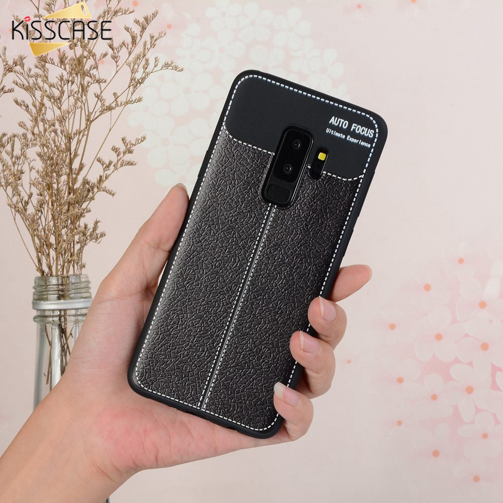 KISSCASE Case For Samsung A9 Star Lite A9 Star Litchi Pattern PU Leather Case For Samsung A6 2018 Plus A6 A8 <font><b>J8</b></font> 2018 <font><b>Capinhas</b></font> image